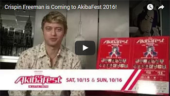 Crispin Freeman is Coming to AkibaFest 2016!